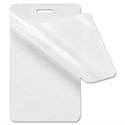 Picture of Luggage tag 64 x 108 mm. blank/clear 125+125 (250) micron laminating pouch 60270013